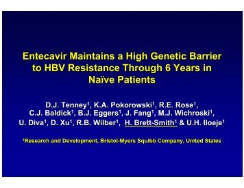 Entecavir Maintains a High Genetic Barrier to HBV Resistance ...