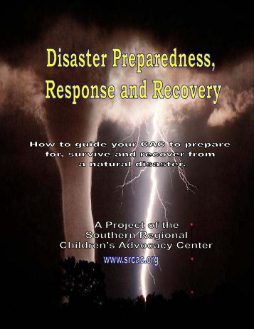 Disaster Preparedness Manual - Midwest Regional Children's ...