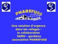 Pharefuge - Association Nationale des Médecins du Secours en ...