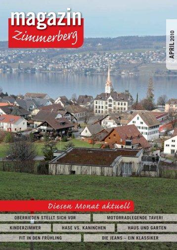 Ausgabe April 2010 - Zimmerberg-Magazin
