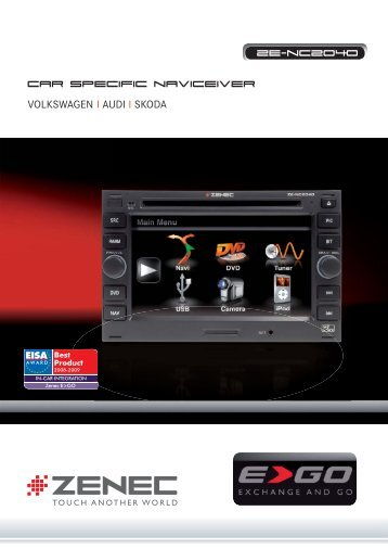 CAR SPECiFiC NAViceiver ZE-NC2040 - Zenec