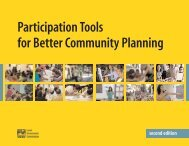Participation Tools for Better Community Planning - Local ...