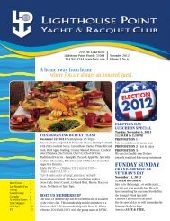 November 2012 - Lighthouse Point Yacht and Racquet Club