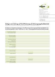 Anlage zum Antrag auf Zertifizierung als ... - EGRW