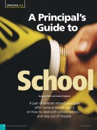 A Principal's Guide to School Politics - National Association of ...