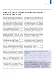 Organ trafficking and transplant tourism and commercialism: the ...