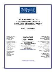 Chorioamnionitis: A Defense to Lawsuits Involving Cerebral Palsy