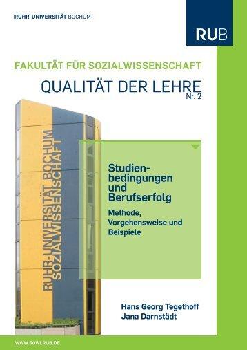 Studienbedingungen und Berufserfolg I - Fakultät für ...