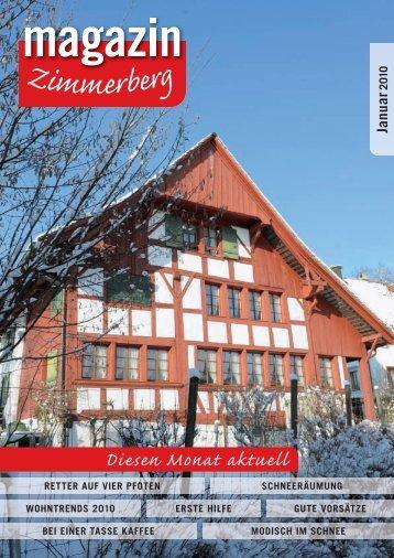 Januar - Zimmerberg-Magazin