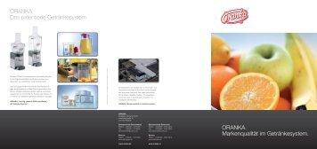 Markenqualität im Getränkesystem - Wolfgang Jobmann GmbH