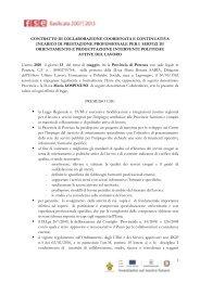 Contratto di collaborazione coordinata e continuativa incarico di ...