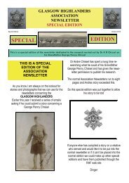SPECIAL EDITION - The Royal Highland Fusiliers