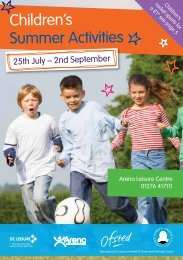 Children's Summer Activities - Surrey Heath Borough Council