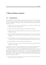 7 Beam Delivery System - TESLA Technology Collaboration - Desy