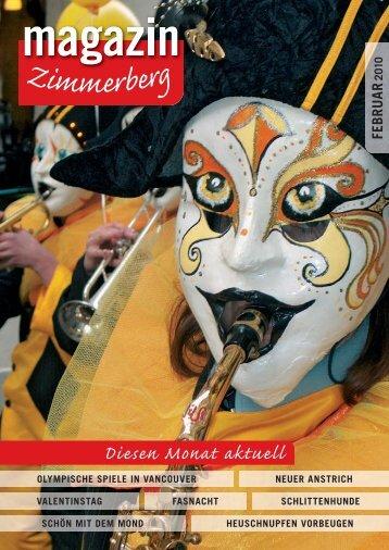 Ausgabe Februar 2010 - Zimmerberg-Magazin