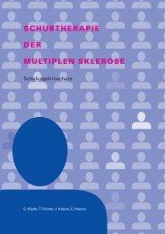 schubtherapie der multiplen sklerose - ZMNH - Universität Hamburg