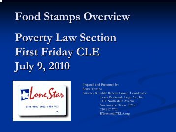 Food Stamps - Poverty Law Section