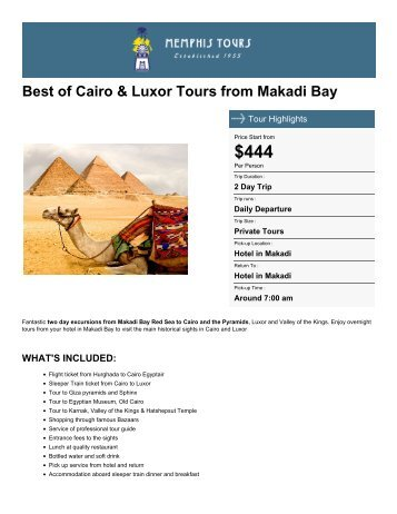 Best of Cairo & Luxor Tours from Makadi Bay - Memphis Tours Egypt