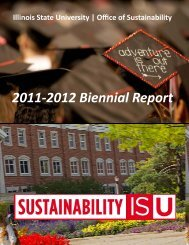 Annual Report 10-12 - Sustainability - Illinois State University