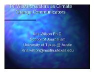 TV Weathercasters as Climate Change Communicators