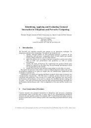 Identifying, Applying and Evaluating Gestural Interaction in ...