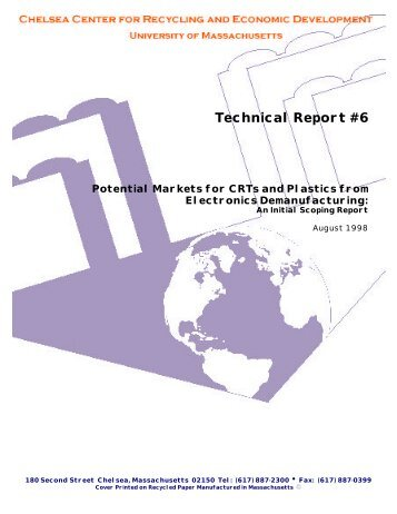 Technical Report #6 - Chelsea Center for Recycling and Economic ...