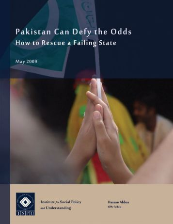 Pakistan Can Defy the Odds - Institute for Social Policy and ...