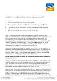 Hans Krankl ist der neue Zielpunkt-Markenbotschafter