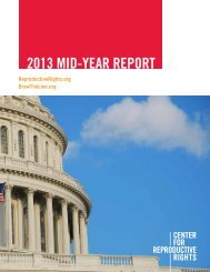2013 MID-YEAR REPORT - Center for Reproductive Rights