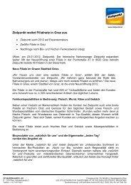 Zielpunkt weitet Filialnetz in Graz aus