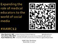 Expanding the role of medical educators to the world of social media