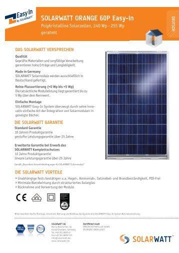 solarwatt easy in m monokristalline solarzellen atb. Black Bedroom Furniture Sets. Home Design Ideas