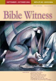 Friends And Foes Of Jesus - Bible Witness Media Ministry