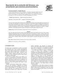 Descripción de la evolución del Universo - Latin-American Journal ...