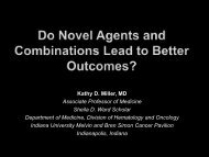 Do Novel Agents and Combinations Lead to Better Outcomes?