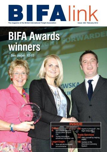 BIFA Awards winners - British International Freight Association