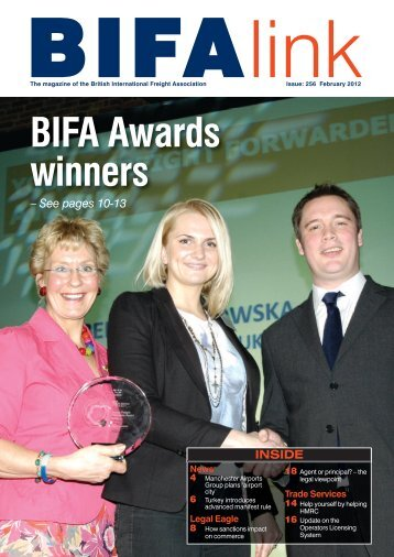 BIFA Awards winners - British International Freight Association