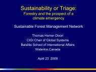 Presentation - Sustainable Forest Management Network Legacy