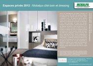 Espaces privés 2012 : Mobalpa côté bain et dressing