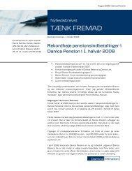 Rekordhøje pensionsindbetalinger i Danica Pension i 1. halvår 2008