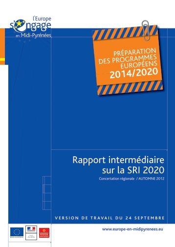 Rapport d'évaluation SRI (.pdf 2.3 Mo) - Région Midi-Pyrénées