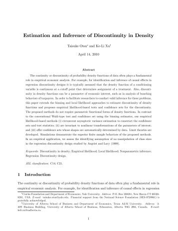 Estimation and Inference of Discontinuity in Density