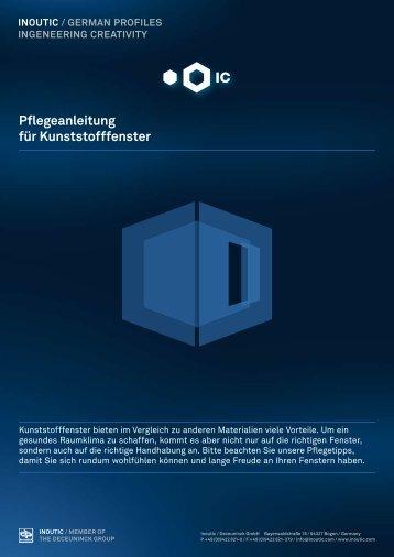 Pflegeanleitung für Kunststofffenster - Fensterbau Kaiser