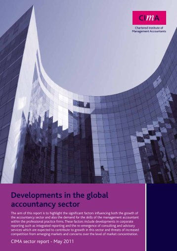 Developments in the global accountancy sector - CIMA