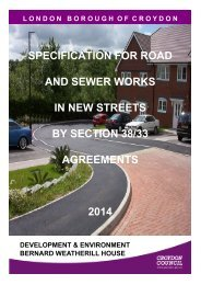 New streets specification 2013 - Croydon Council
