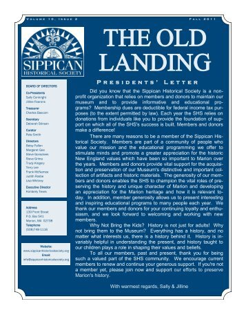 THE OLD LANDING - Sippican Historical Society