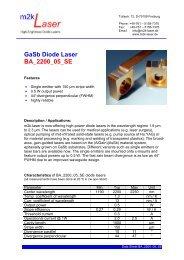 GaSb Diode Laser BA_2200_05_SE