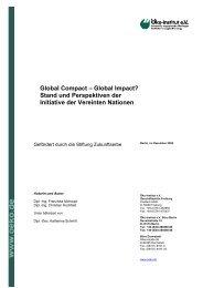 Global Compact - Stiftung Zukunftserbe