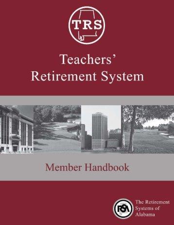 TRS Member Handbook - University of North Alabama