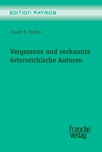Vergessene und verkannte österreichische Autoren - narr-shop.de